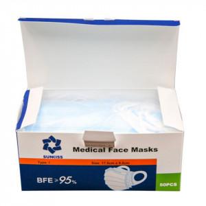 Masca unică folosință GRAD MEDICAL (50 bucăți)
