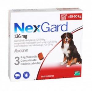 Nexgard S caini 25-50kg