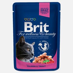 Brit Premium Cat plic cu carne de somon si pastrav 100 gr