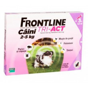 Frontline Tri-Act XS caini 2-5kg