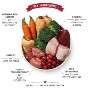 Hrana umeda Lily's Kitchen, curcan, gasca si rata, 400g, pentru Craciunul cateilor
