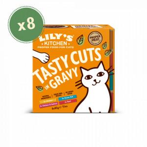 Lilys Kitchen Cat Tasty Cuts Mixed Multipack 8x85 g