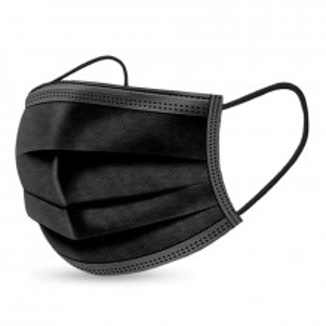 Masca color neagra, pentru adulti, 3 straturi, cutie 50buc