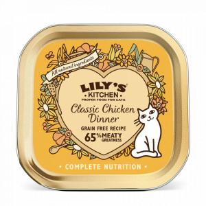 Hrana umeda Lily's Kitchen, ingrediente Naturale, cu Pui, 85g, pentru pisici