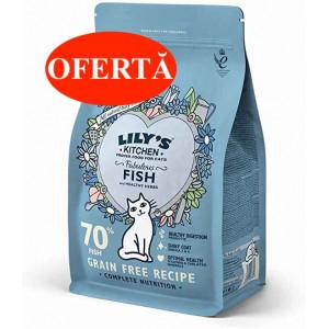Hrana uscata pentru pisici Lily's Kitchen Fabulous Fish 800g - valabilitate redusa