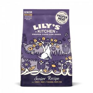 Lily's Kitchen, hrana pentru caini seniori 8+, curcan si pastrav 1kg