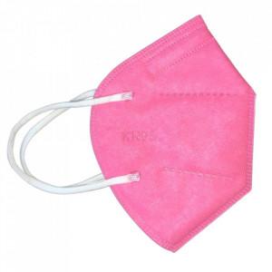 Masca color roz, KN95 cu valva