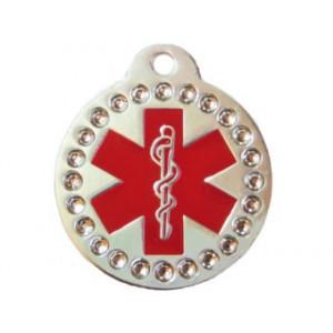 Medalion MyTag Banut Medical Swarovski