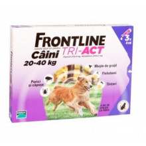 Frontline Tri-Act S caini 20-40kg