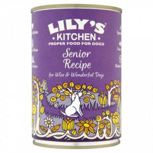 Hrana umeda Lily's Kitchen, ingrediente naturale, cu Curcan, 400g, pentru caini seniori