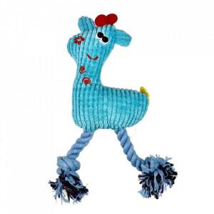 Jucarie pentru caini - Girafa albastra cu sunet