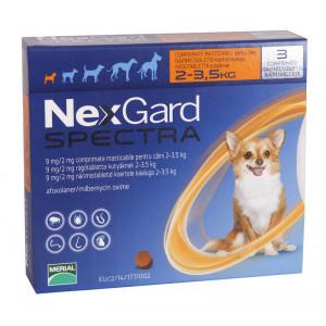 Nexgard Spectra comprimat caini 2-3.5kg