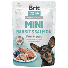 Brit Care Dog Mini Rabbit and Salmon Fillets in Gravy 85 g