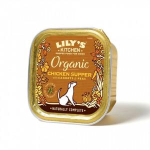 Hrana umeda Lily's Kitchen, certificata Organic, cu Pui, 150g, pentru caini