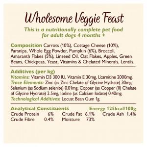 Hrana umeda pentru caini Lily's Kitchen Wholesome Veggie Feast 375g
