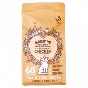 Hrana uscata Lily's Kitchen, ingrediente Naturale, cu Pui, 200g, pentru pisici