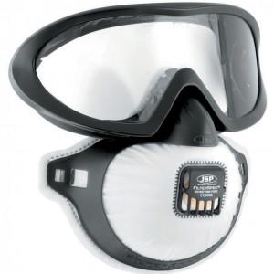 Masca FFP3 JSP FilterSpec Pro P3, cu ochelari extinsi