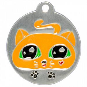 Medalion personalizat Pisica, gravare inclusa