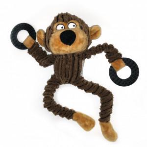 Jucarie pentru caini - Maimuta maro cu inele si sunet