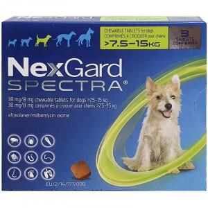 Nexgard Spectra comprimat caini 7.5-15kg