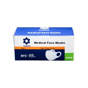 Mască unică folosință GRAD MEDICAL (1000 bucăți)