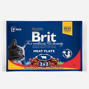 Brit Premium Cat multipack felii de carne 4 x 100 gr
