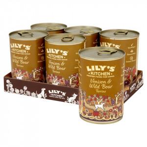 Hrana umeda Lily's Kitchen, cu vanat si mistret salbatic, 400g, pentru caini