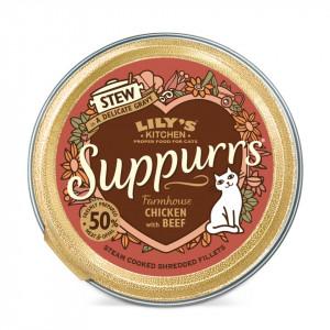 Hrana umeda, Lily's Kitchen, fileuri maruntite din pui si vita, pisica, 85g