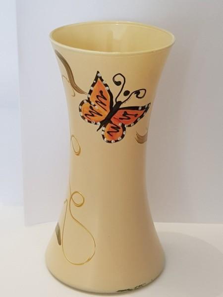 Poze Vaza sticla pictata manual Fluture