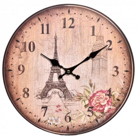 Poze Ceas perete vintage turnul Eiffel