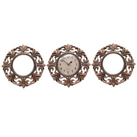 Set ceas cu 2 oglinzi, Model Bronz