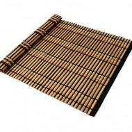 Suporturi din bambus pentru farfurii, 30 x 45 cm, maro