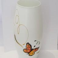 Vaza Sticla pictata manual Fluturi