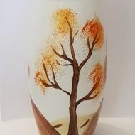 Vaza sticla pictata manual Pom