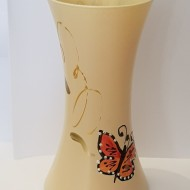 Vaza sticla pictata manual Fluture