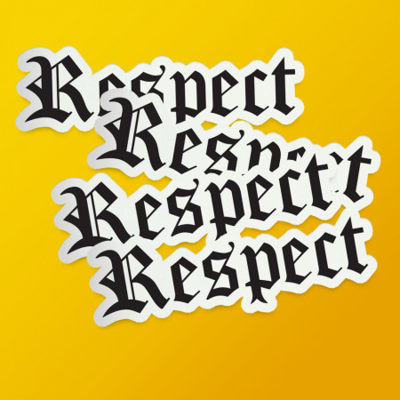 """Pack stickere """"Respect"""""""