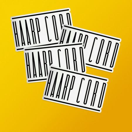 "Pack stickere ""Haarp Cord"""
