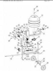 Angrenaj roata dintata reductor Z76 M2 pentru betoniera Imer Syntesi 350