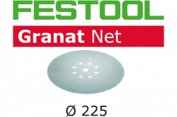 Hartie de slefuit reticular Festool STF D225 P150 GR NET/25 Granat Net