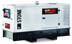 Generator de curent insonorizat stationar Genmac, Gama Stone, model G60PS, trifazic 400 V, putere 66 kVA