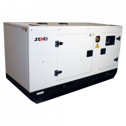 Generator insonorizat diesel SCDE 125YCS-ATS, Putere max. 125 kVA, 400V, AVR, motor Diesel