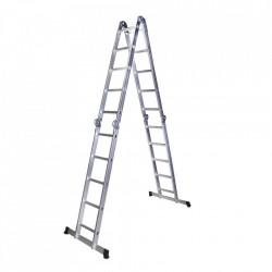 Scara multifunctionala din aluminiu 4 segmente x 5 trepte, 5.8 m Bisonte