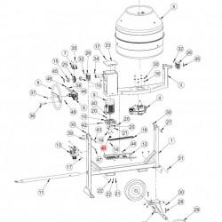 Fulie ax motor betoniere Imer Syntesi 140 - 350