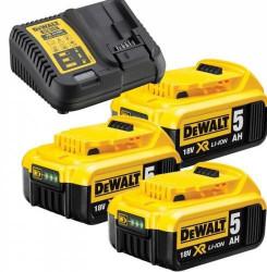 Set 4 scule Dewalt DCK421P3T, 18V, DCD791, DCS331, DCS570, DCS367, cu 3 acumulatori 5Ah si incarcator