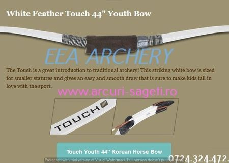 """ARC JUNIORI HORSEBOW WHITE FEATHER TOUCH 44"""""""