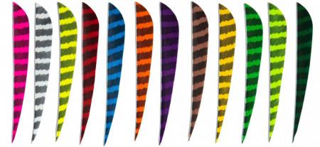Pene naturale Skylon Round 3 inch - Zebrate
