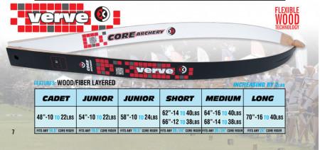 Set Arc Recurve Core Archery Verve