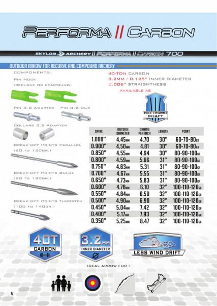 Shaft Carbon Skylon Performa Id3.2 - Set 12 bucati