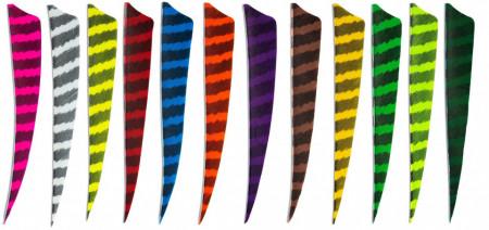 Pene naturale Skylon Shield 5 inch - Zebrate