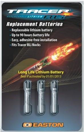 Set baterii suplimentare nock-uri luminoase Easton Tracer RLI